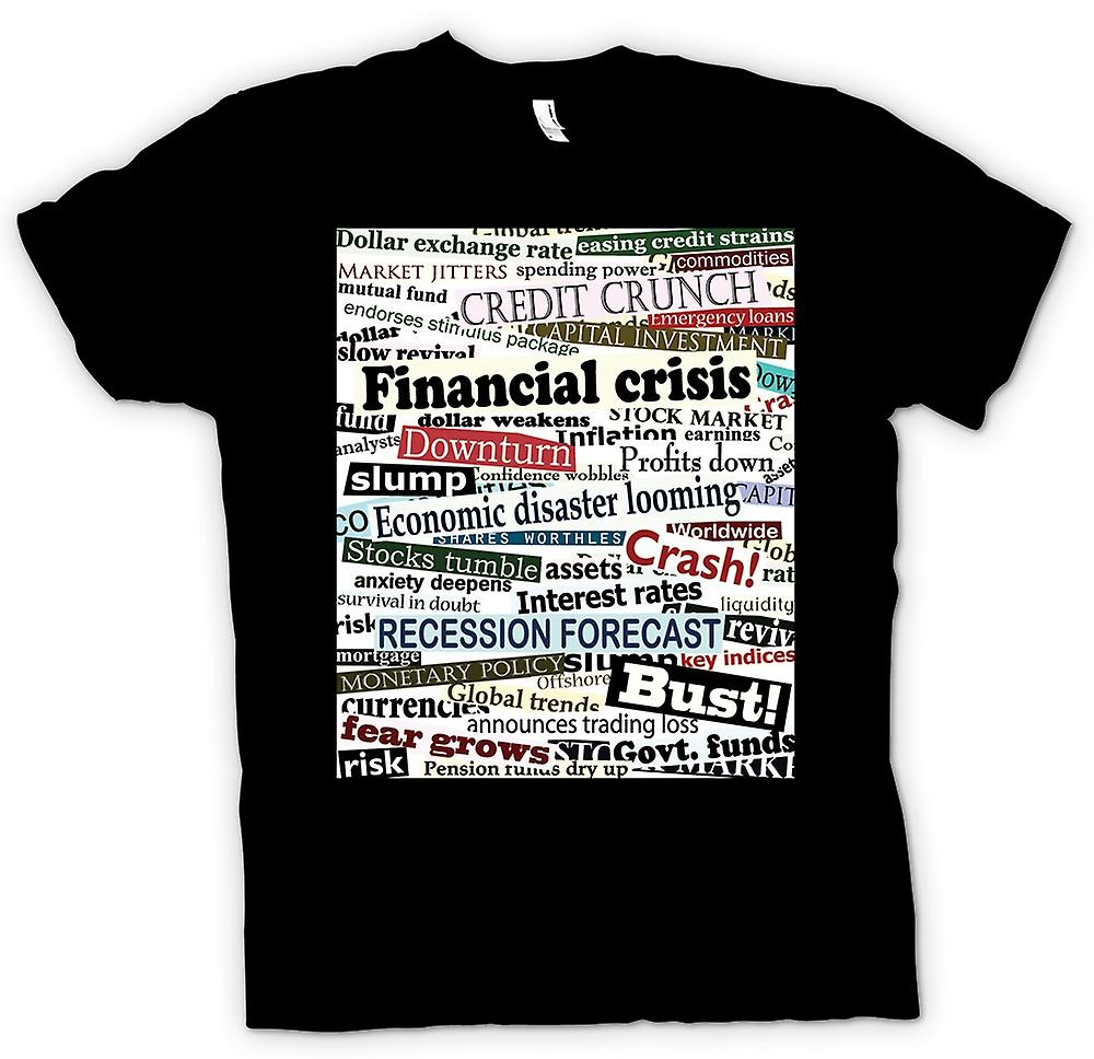 Mens T-shirt - Financial Crisis - Credit Crunch