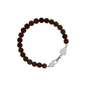 Guess mens bracelet stainless steel beads Brown UMB21507-S