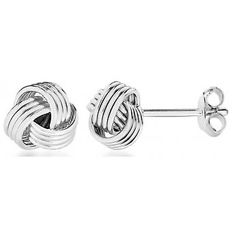 IBB London Knot Stud Earrings - Silver