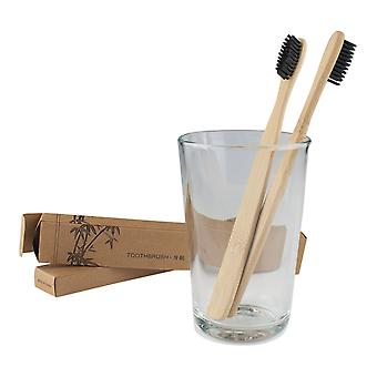 Toothbrush of bamboo-2 pack