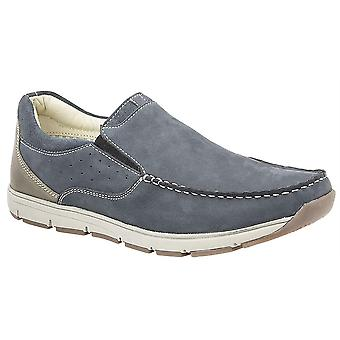 Mens Leather Nubuck Smart Leisure Slip On Lightweight Boat Casual Shoes