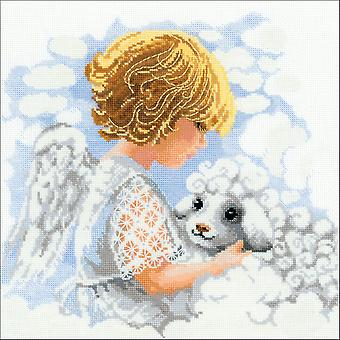 Day Of An Angel Counted Cross Stitch Kit-11.75
