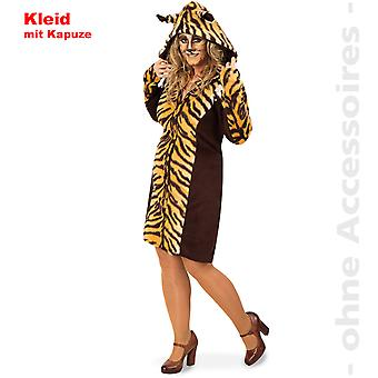 Tygrys Kot dziki kostium Lady Tiger dress kostium kobiety kota sukienka z kapturem