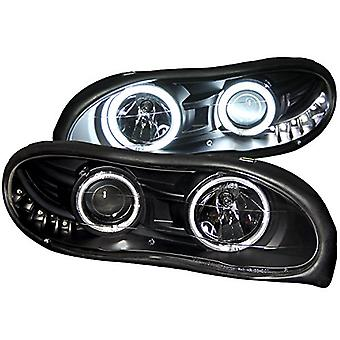 Anzo USA 121160 Chevrolet Camaro Projector with Halo/Black Clear with Amber Reflectors Headlight Assembly - (Sold in Pai