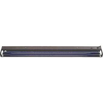 UV fluorescent tube set 45cm metall 15 W Black