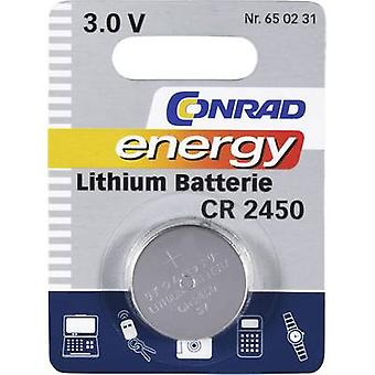 Button cell CR2450 Lithium Conrad energy CR2450 60