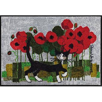 Rosina Wachtmeister doormat Poppywalk Salon Loewe washable cat doormat