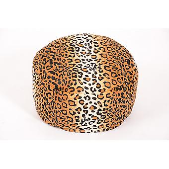 Pouf animal optical Cheetah fur Ø47/34 cm