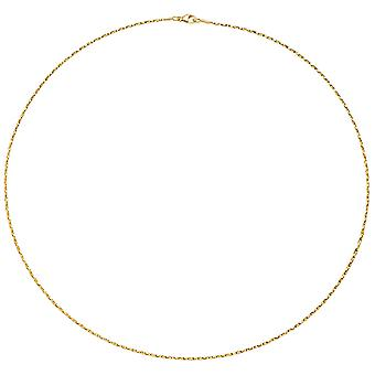 Necklace necklace 750 Gold Yellow Gold Diamond 1.0 mm 42 cm chain gold necklace