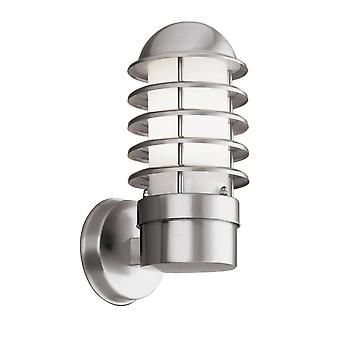 Searchlight Modern Outdoor IP44 Wall Light In Satin Silver Finish