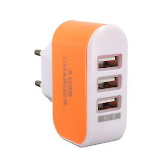 Stuff Certified ® 10-Pack Triple (3x) USB Port iPhone / Android Wall Charger Wall Charger AC Orange Home