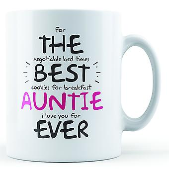 For The Best Auntie Ever - Printed Mug