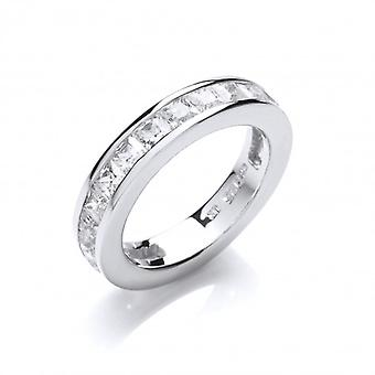 Cavendish French Silver and Cubic Zirconia 3/4 Eternity Ring