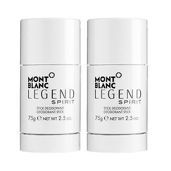 2-pack Mont Blanc Legend Spirit deodorant stick 75 g