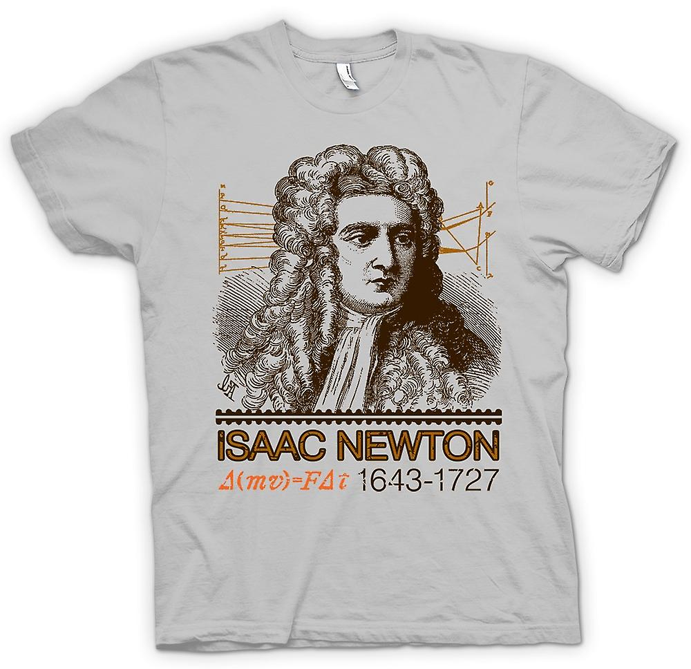 Mens T-shirt - Isaac Newton Scientist 1643 - 1727 - Icon