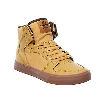 Supra Amber Gold-Gum Vaider Kids Hi Top Shoe