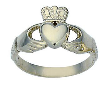 Silver 11mm gents Claddagh Ring Size Z