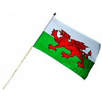 Wales Polyester Hand Held Flag