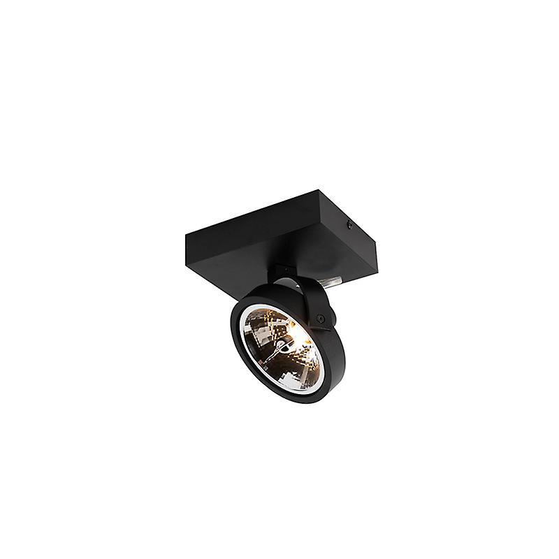 QAZQA Modern Adjustable Spotlight 1 noir - Go