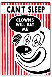 Can't sleep, clowns will eat me   funny fridge magnet