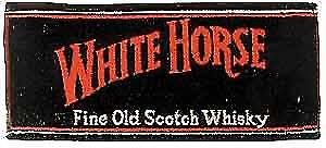 White Horse Whisky Cotton Bar Towel
