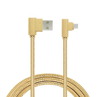 Charging Cable, Angled, Lightning-Gold