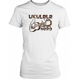 Ukulele Hero - Funny Music Ladies T Shirt