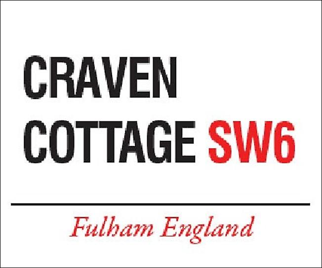 Craven Cottage Fulham large metal sign  (og 4030)