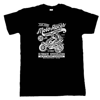 Moto Racer Mens t-shirt | Moto-X Bike Dirt Jump Stunt Throttle sollevare Big Air | Moto Scooter Street Cafe Racer Rider Sidecar | Le moto regalo lui