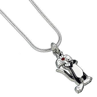 Looney Tunes Silver Plated Sylvester Necklace