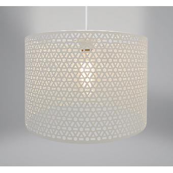 Country Club Metal Light Fitting, Geo Oatmeal