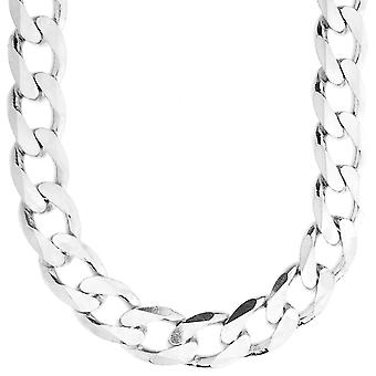 Sterling 925 Silver Tank Chain - CURB 15mm