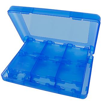 24 in 1 storage box travel case holder for nintendo 3ds, 2ds & ds game cartridges - blue