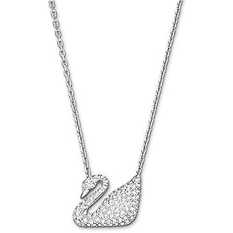 Swarovski Swan Necklace - White - Rhodio Plating