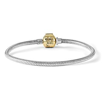 and 14k Hinged Reflections Clasp Bead Bracelet - Length: 7 to 8.25