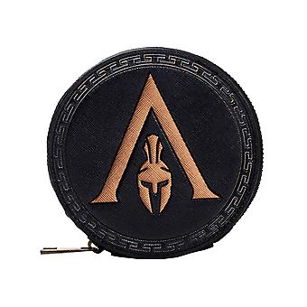Assassins Creed Odyssey Coin Monedero Casco Griego Logotipo nuevo Oficial Negro