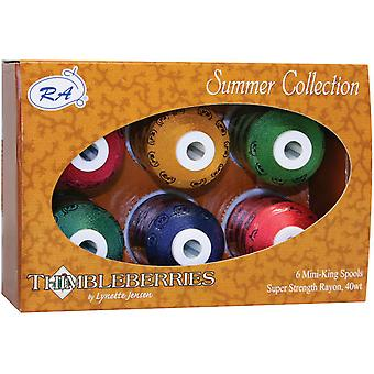 Thimbleberries Rayon Thread Collections 1000 Yards 6 Pkg Summer Ggr 2003