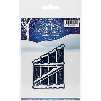 Find It Trading Precious Marieke Winter Wonderland Die-Wooden Fence PM10050