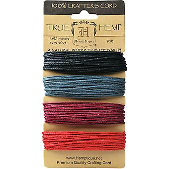 Hemp Cord 20# 30 Feet Color 4 Colors Pkg Autumn Nights Hc200 An