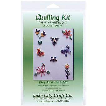 Quilling Kit Flowers Butterflies Q297