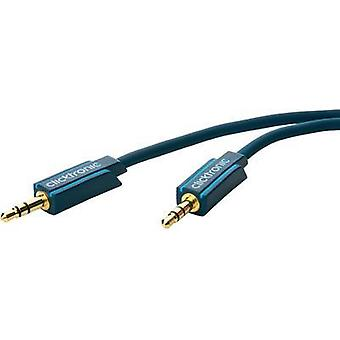 Jack Audio/phono Cable [1x Jack plug 3.5 mm - 1x Jack plug 3.5 mm] 1 m Blue gold plated connectors clicktronic