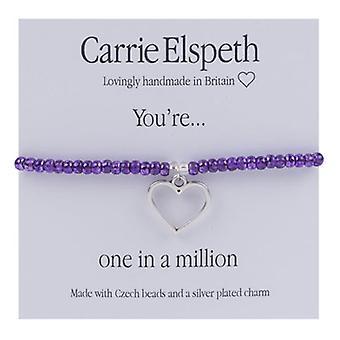 Carrie Elspeth du er en ud af en Million åbne kærlighed hjerte armbånd