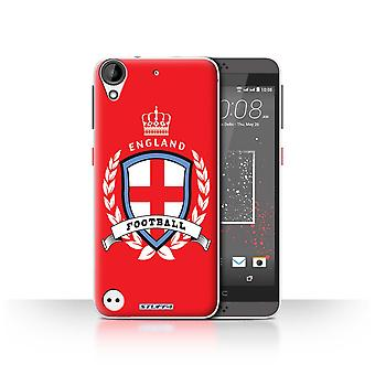 STUFF4 Case/Cover for HTC Desire 630/England/English/Football Emblem