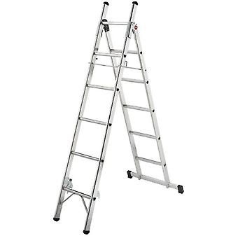 Hailo Aluminum ladder L80 (6 + 5 Treads) (DIY , Tools , Stairs and stools)