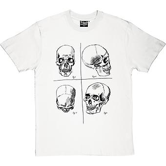 Four Studies of a Human Skull Men's T-Shirt