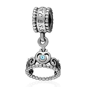 Sterling silver pendant charm Crown SS2621-16