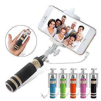 ONX3 (czarny) Huawei P10 uniwersalny regulowany Mini Selfie Stick kieszeń sklejony Monopod wbudowanego gripa