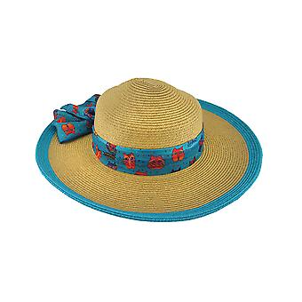 Laurel Burch Art Scarf Band Colored Trim Paper Braid Sun Hat