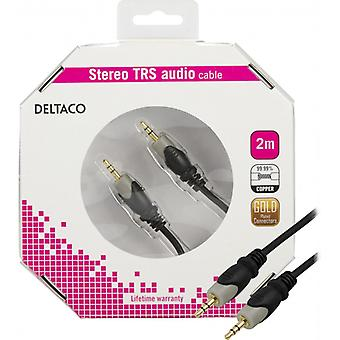 DELTACO audio cable 3, 5 mm HA-HA, gold plated, 2 m