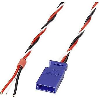 Servo Connection cable [1x Futaba - 1x Open end] 300 mm 0.5 mm² twisted Reely